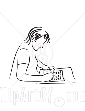 Clip Art Writing A Letter. WRITING FROM MERIDA